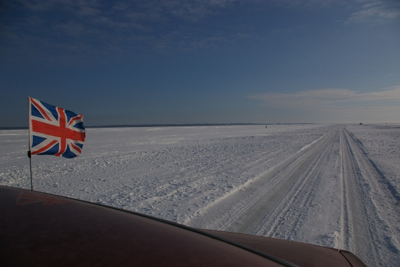 Flying the flag on Estonia's Ice Road